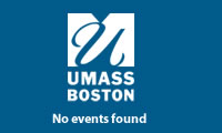 UMass Boston logo and text that says No events found