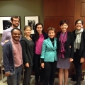 Picture of the Center for Governance and Sustainability staff with Christiana Figueres