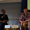 Maria Ivanova interviewing Wanjira Mathai at Yale University
