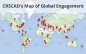 Map showing global engagement