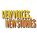 Graphic with the text New Voices, New Stories