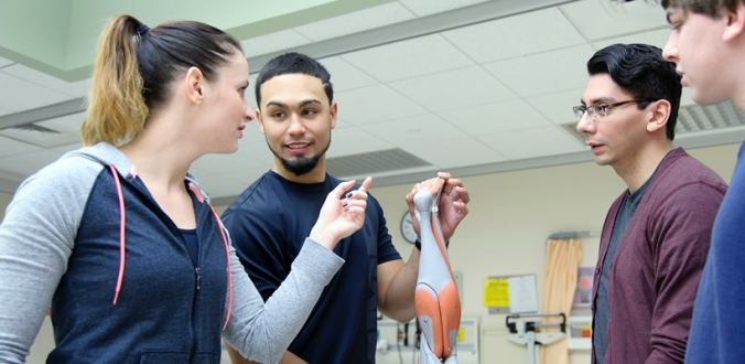 Exercise and Health Sciences students in the College of Nursing and Health Science.