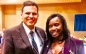 UMass Boston Office of Community Relations Coordinator of Community Outreach Alkia Powell with Malden Mayor Gary Christenson at the 6th Annual Taste of Malden event