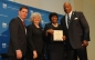 Boston Mayor Marty Walsh, Claudina Quinn, Annie Wilcox, and Chancellor Motley at the