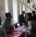 Students get information at the Annual Health Professions Fair