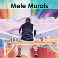 The image is a screen capture from the documentary 'Mele Murals' which shows an artist sitting on scaffolding in front of a mural.