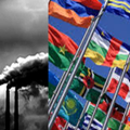 UN Flags and Oil Smokes