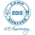 Logo image that says Camp Shriver 2015 10th Anniversary