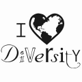Graphic that says I Heart Diversity