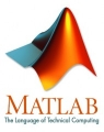 Logo for MATLAB. Title text reading 'MATLAB'. Subtitle, 'The language of technical computing'
