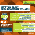 Graphic says Let's Talk About Sex & Emotional Wellness
