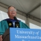 Commencement speaker Gus Speth addresses the UMass Boston Class of 2013.