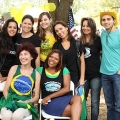 Brazilians in an event in Massachusetts, including UMass Boston students.