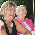 Alumnae laughing at Cape event.