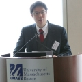 Michael Ahn at Podium