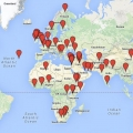 Map of McCormack Graduate School local and global engagement