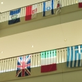 International Flags and Students