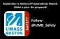 UMass Boston's Office of Emergency Preparedness and Business Continuity National Preparedness Month Twitter Page