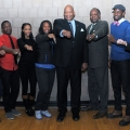 Chancellor J. Keith Motley and Vice Chancellor Charlie Titus pose with the 2013 LEC champions.