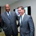 Chancellor J. Keith Motley and Boston Mayor Marty Walsh at the CADE conference.