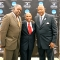 Vice Chancellor Charlie Titus, Coach Mike Jarvis, and Chancellor J. Keith Motley