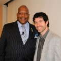 Chancellor J. Keith Motley and Associate Professor Darren Kew at TedX UMass Boston.