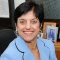 Anahid Kulwicki, the new dean of the College of Nursing and Health Sciences, is shown.