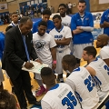 Charlie Titus coaches final game with men's basketball