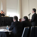 While in session at UMass Boston, a three-member judicial panel heard two criminal cases and three civil cases.
