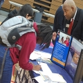 A UMass Boston representative speaks to students about BATEC.
