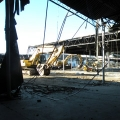 The Bayside Expo Center is being removed in stages to make way for 600 new parking spaces, landscaping, and bike racks.