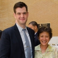 Andrew Bunyard with mentor Connie Chan