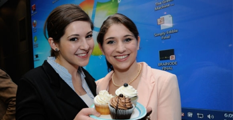 Sarah Gasse and Amanda Tripp of Simply Edible came in second place in the 2012 Business Launch Competition.