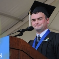JFK Award Winner Sam Chandler delivered remarks on behalf of the Class of 2013.