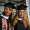 Ling Chou and  Hannah Curren, SGISD's first master's graduates