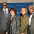 Professor Robert Chen, Chancellor J. Keith Motley, Professors Catherine Lynde and Elizabeth Fay, and Provost Winston Langley