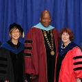 This year's Chancellor's Award recipients with Chancellor Motley, Provost Langley, and President Caret.