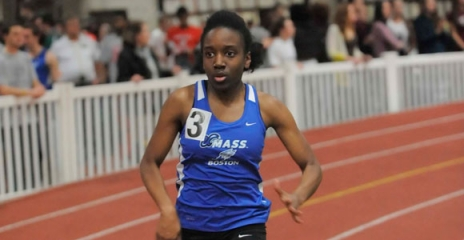 Samara Faustin of Boston and her three teammates will complete in the 4x100 relay.
