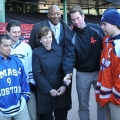 Coin toss at Frozen Fenway