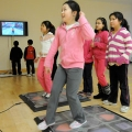 Students get fit in UMass Boston's GoKids Lab.