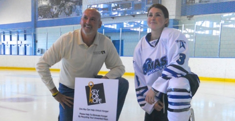 Ralph Greenberg and his daughter, UMass Boston hockey player Alli Greenberg