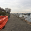 The section of the HarborWalk leading to the Fox Point Dock is in need of repairs.