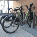 Hubway station in its new location near ISC