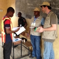 Nigeria expert Darren Kew (far right) in his role as a Nigerian presidential election observer