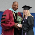 Chancellor J. Keith Motley with JFK Award Winner Alia MacPherson