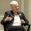 UMass alumnus Glenn Mangurian '70, '73 led the discussion with EPA Administration Gina McCarthy '76.