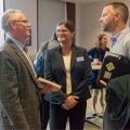 Dean Michael Middleton, Program Director Anne Douglass, and Commissioner Tom Weber