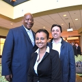Chancellor Motley, Bersabel Wondimagegnhu, and Marco Farsheed