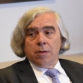 David Cash and Ernest Moniz at the event.