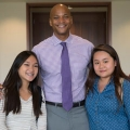 Author Wes Moore met with students before and after his keynote address.